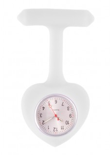 Reloj para Enfermera silicona Corazón Blanco