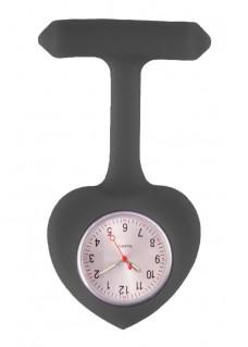 Enfermeras Reloj Corazón Silicona Negro