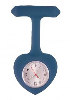 Reloj para Enfermeras silicona Corazón Azul Marino