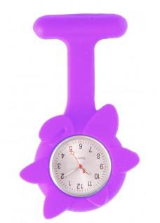 Reloj de enfermera Flor Primavera Violeta