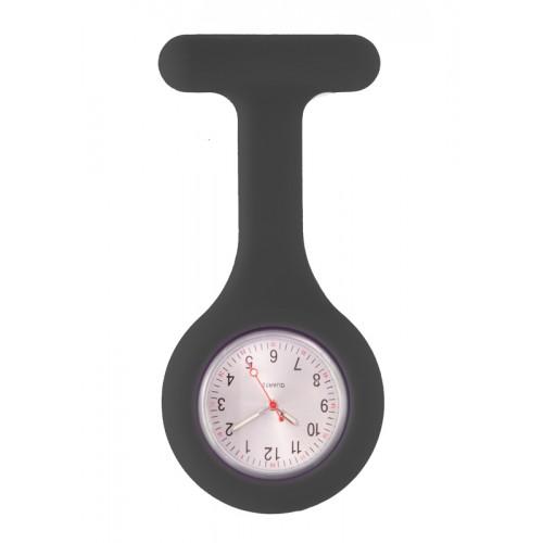 Reloj Enfermera Silicona estándar Negro