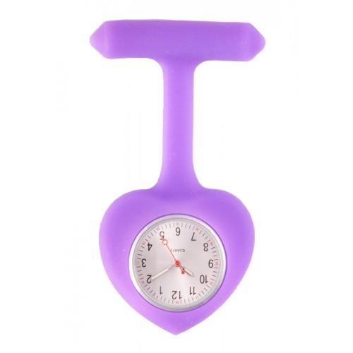 Reloj para enfermera silicona Corazón Violeta