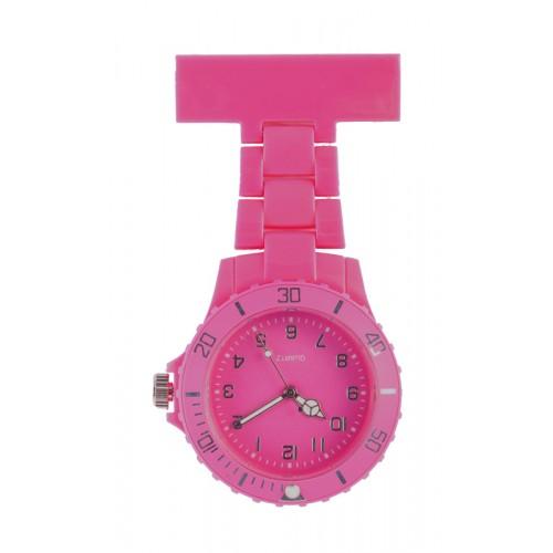 Reloj de Enfermera Neón Fucsia