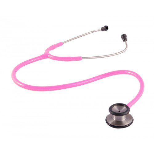 Estetoscopio clínico 2 cabezas rosa