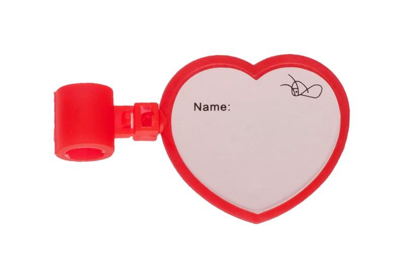 Etiqueta De Identificación Estetoscopio Corazón Para