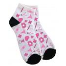 Calcetines Tobilleros Símbolos Médicos Rosa