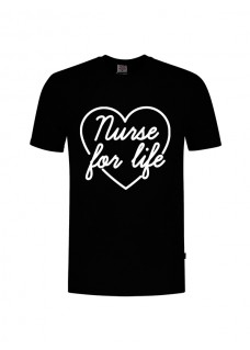 Camiseta Nurse For Life Negra