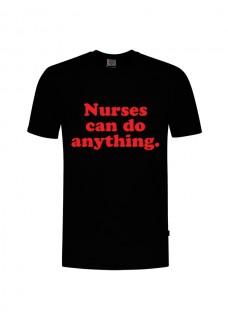 Camiseta Nurses Can Do Anything Negra