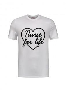 Camiseta Nurse For Life Blanca