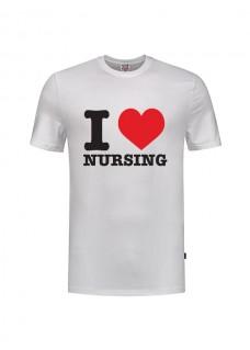 Camiseta love Nursing Blanca
