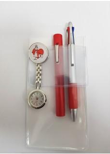 Salvabolsillos Blanco + Accesorios en Rojo