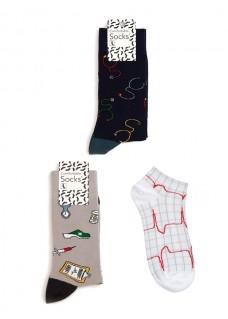 Set de Calcetines para Mujer con Símbolos Médicos
