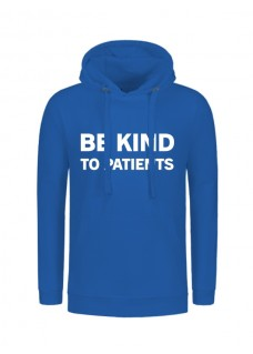 Sudadera Be Kind To Patients Azul