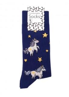 Calcetines Happy Unicornios Médicas para Mujer
