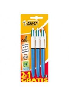 BIC Bolígrafos 4 colores (3 bolis)