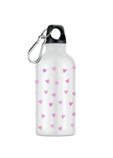 Botella Bidón Corazones Rosas