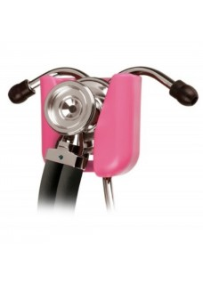Soporte rosa para estetoscopios