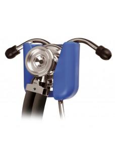 Soporte azul para estetoscopios