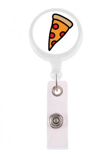 Enganche Retráctil Tarjeta Identificativa Pizza