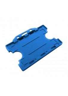 Porta tarjetas Azul Doble Cara