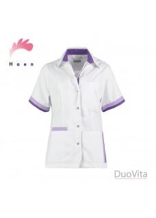 Haen Casaca Sanitaria Bente Blanca Violeta