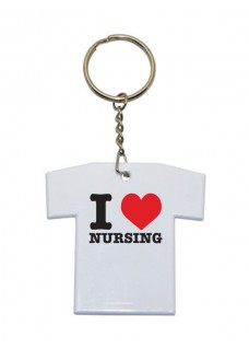 Llavero Camiseta I Love Nursing