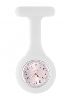Reloj Enfermera Silicona estándar Blanco