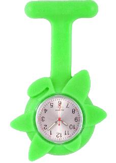 Reloj enfermera Flor Primavera Verde Lima