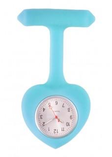 Reloj para enfermeras silicona Corazón azul