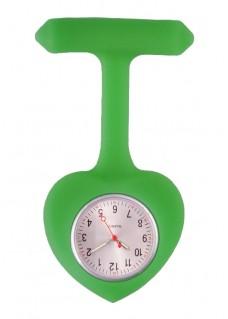Reloj para Enfermera silicona Corazón Verde