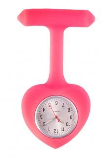 Reloj para Enfermera silicona Corazón Rosa