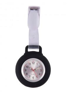 Reloj Enfermera Silicona Pinza Negro