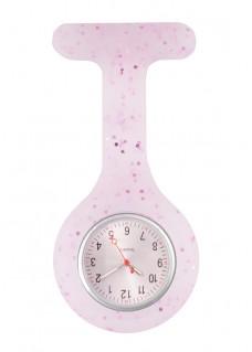 Reloj Enfermera Silicona Brillo Violeta