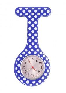 Reloj enfermera Polka Dots Azul