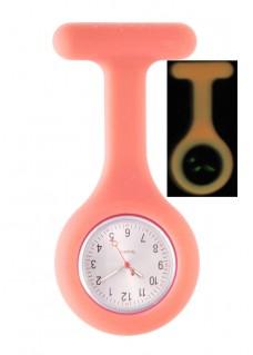 Reloj Enfermera Silicona Fluorescente Rosa
