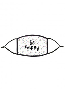 Mascarilla de Tela Tapabocas Be Happy