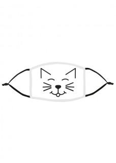 Mascarilla de Tela Tapabocas Gato