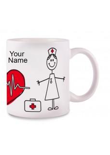 Taza Stick Nurse Blanca