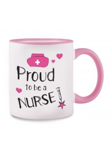Taza Proud to be a Nurse 2 Rosa