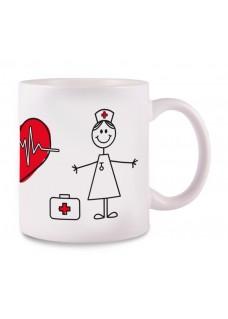 OUTLET - Taza Stick Nurse Blanca