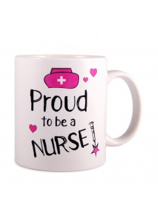 Taza Proud to be a Nurse 2 Blanca