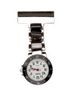 Reloj para enfermeras Plateado Negro