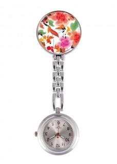Reloj Enfermera Asian Flowers