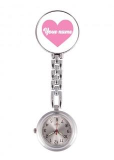 Reloj Enfermera ECG Corazón Rosa