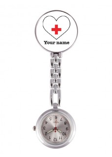 Reloj Enfermera Corazón Blanco