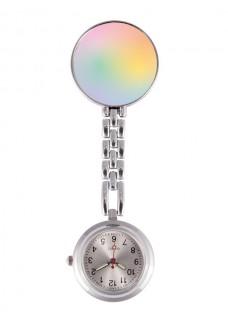 Reloj Enfermera Arcoiris Pastel