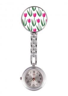 Reloj Enfermera Tulipanes