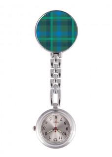 Reloj Enfermera Tartan Verde