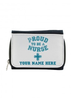 Cartera Monedero Proud Nurse con tu Nombre