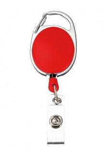 Yoyo Retráctil Mosquetón Porta Credenciales Rojo